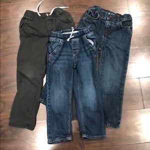 Set of 3 toddler Boy Pants 4T